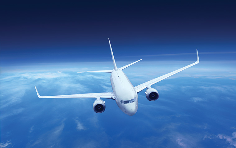 Airplane Flying in Air