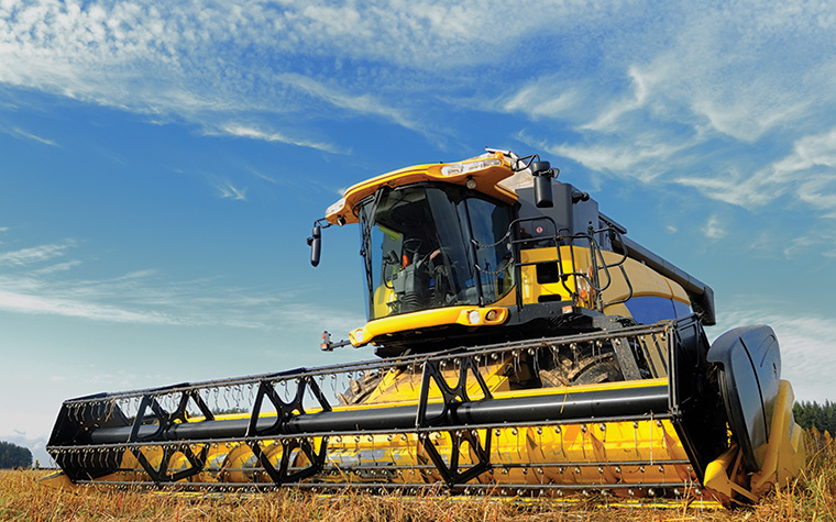 Agriculture Machinery in Field